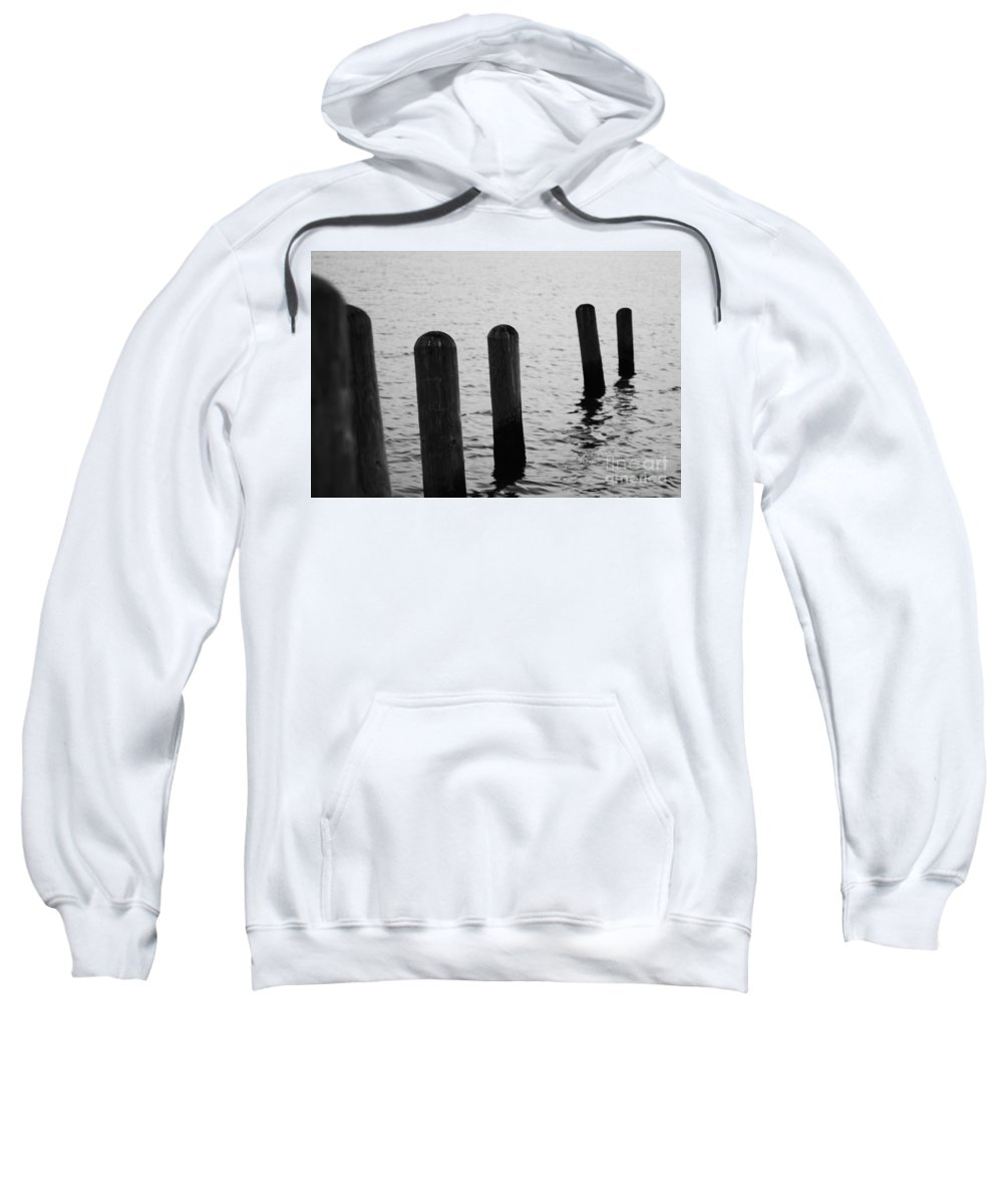 Pamlico Sound Sweatshirt featuring the photograph Harbor Ties by Tony Cooper