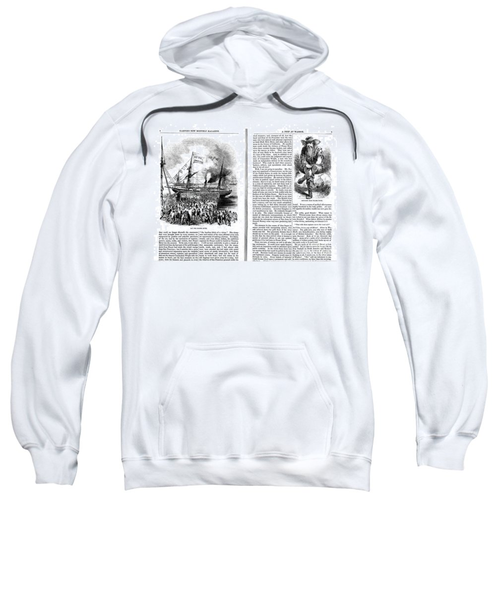 1861 Sweatshirt featuring the photograph Harpers Magazine, 1861 by Granger