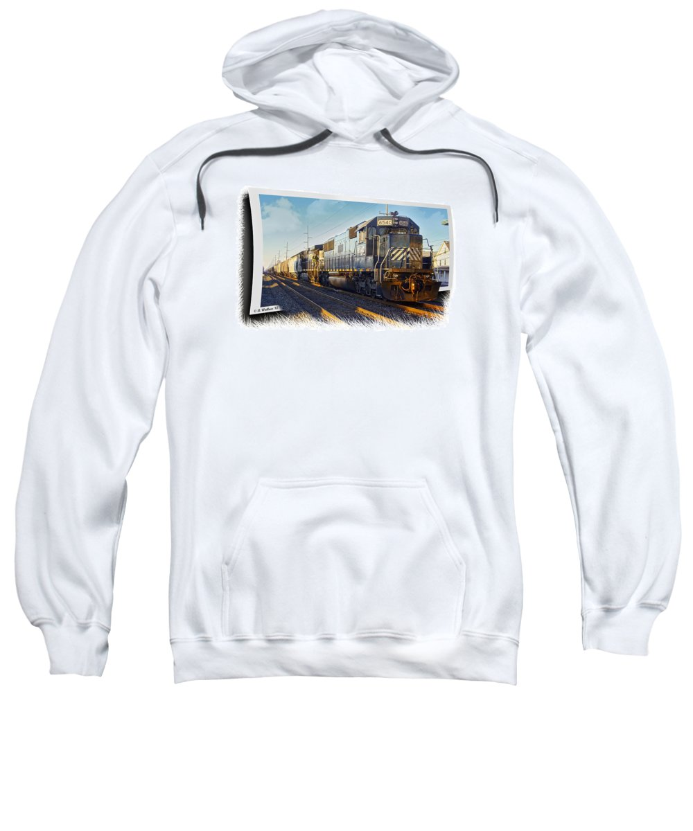 2d Sweatshirt featuring the photograph Harrington Train by Brian Wallace