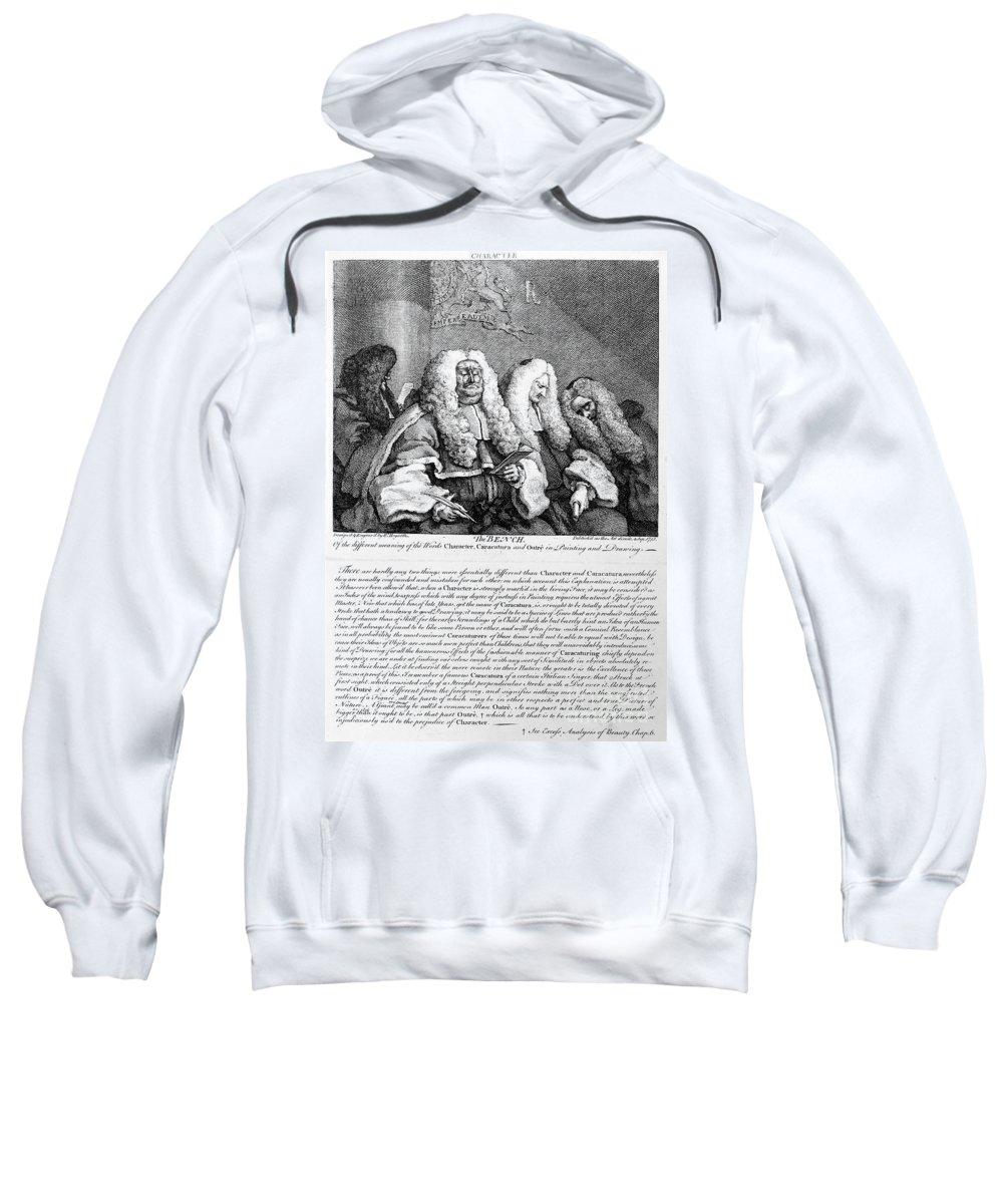 1758 Sweatshirt featuring the photograph Hogarth: Judges, 1758 by Granger