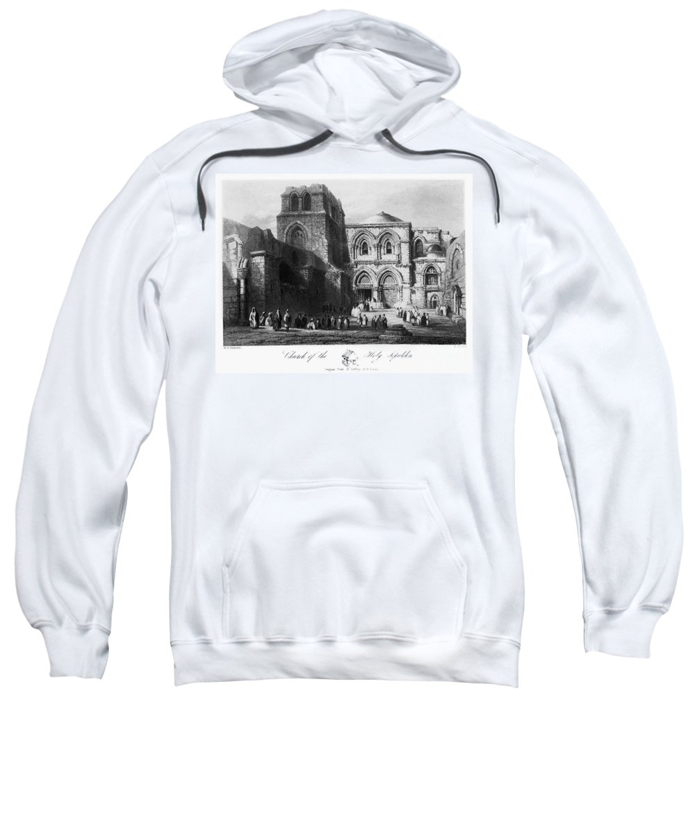 1843 Sweatshirt featuring the photograph Holy Sepulcher by Granger