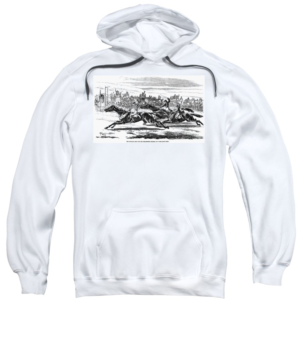 1857 Sweatshirt featuring the photograph Horse Racing, 1857 by Granger