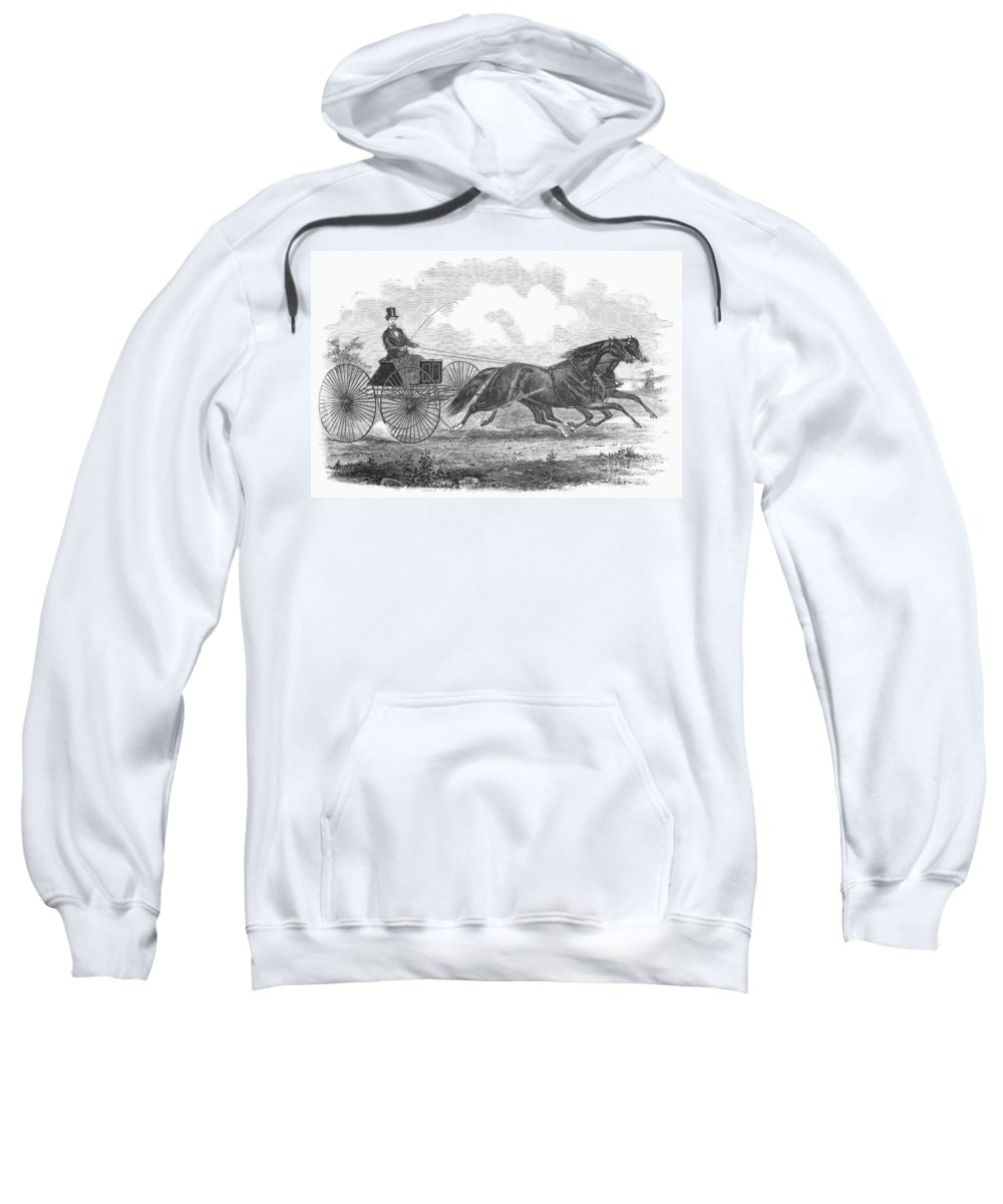 1862 Sweatshirt featuring the photograph Horse Racing, 1862 by Granger