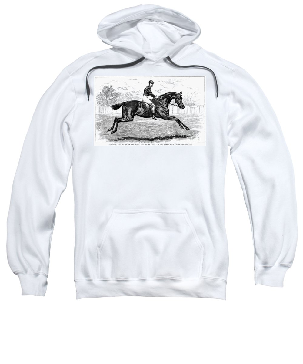 1880s Sweatshirt featuring the photograph Horse Racing, 1880s by Granger