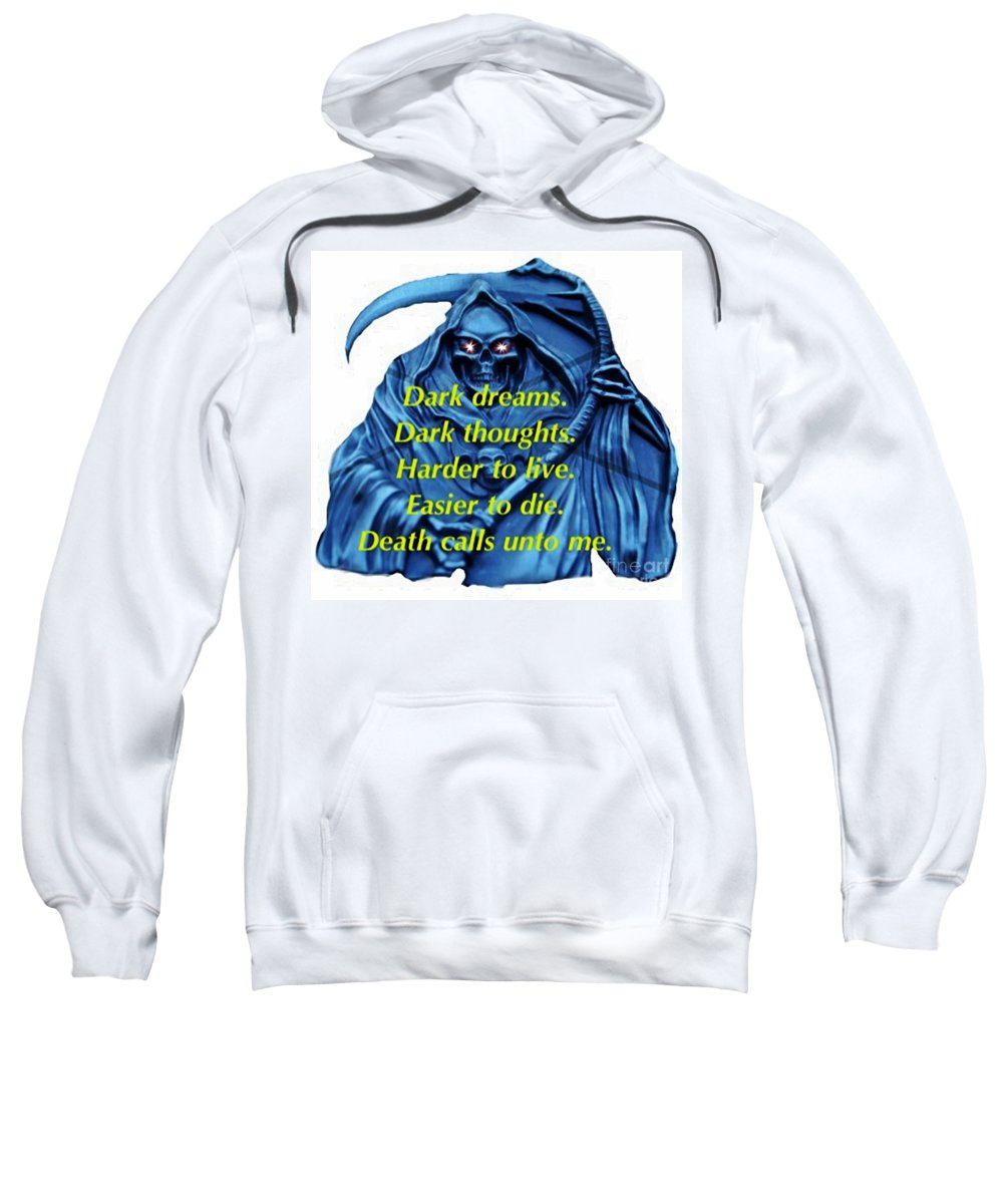 Blair Stuart Sweatshirt featuring the mixed media I Awoke From A Terrible Dream by Blair Stuart