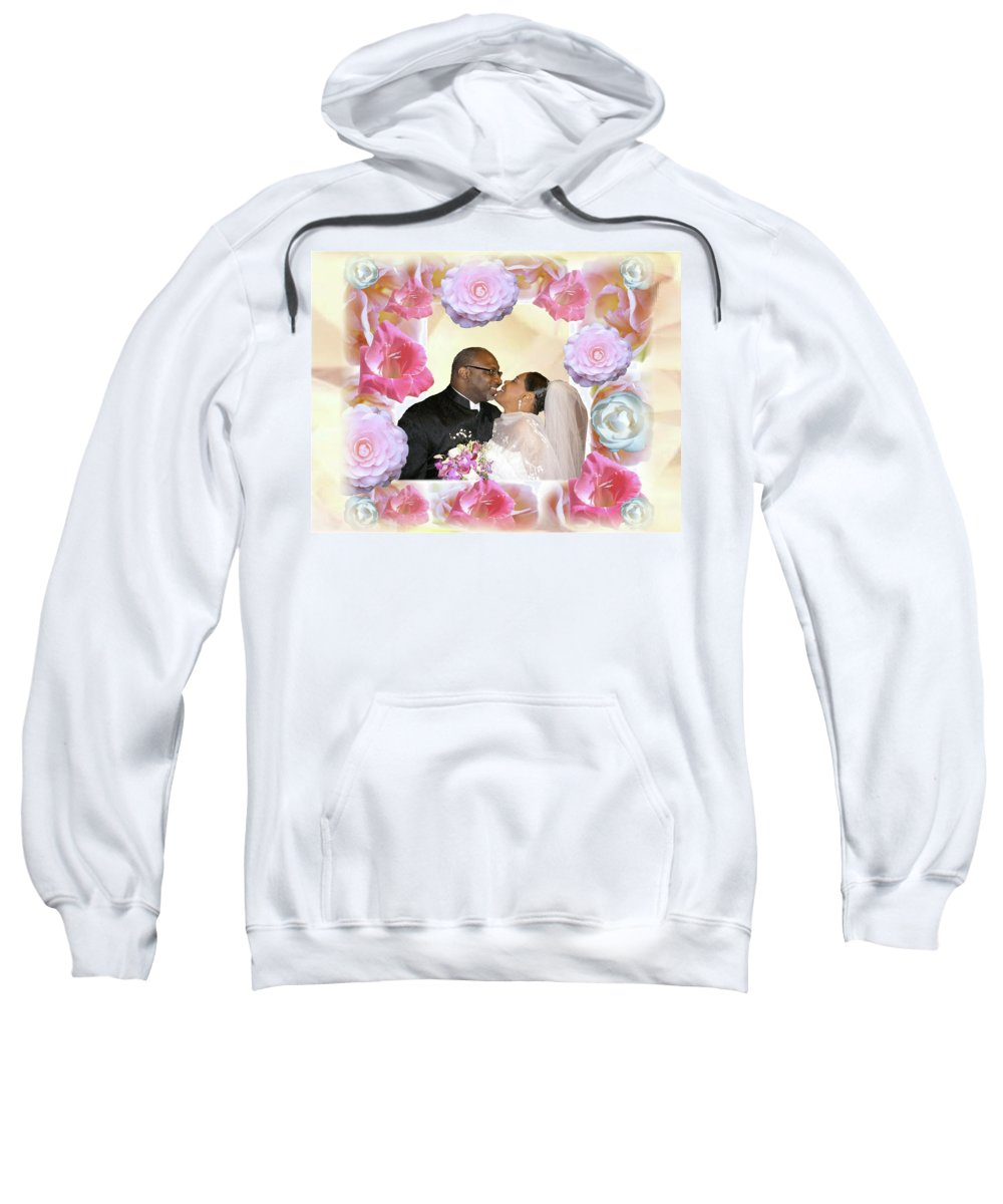 Wedding Sweatshirt featuring the digital art I Pronounce You Husband And Wife by Terry Wallace