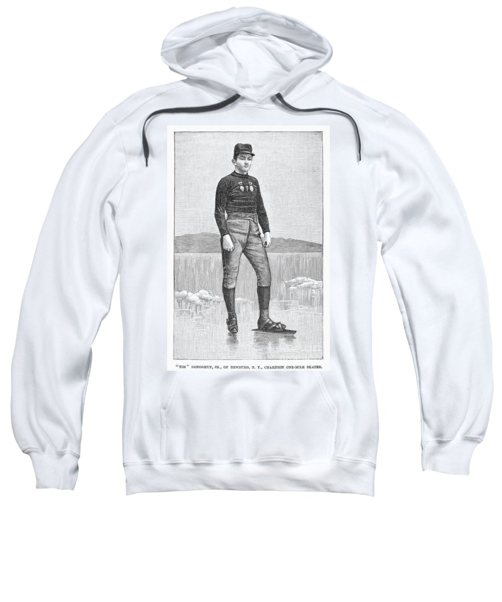 1880 Sweatshirt featuring the photograph Ice Skater, 1880 by Granger