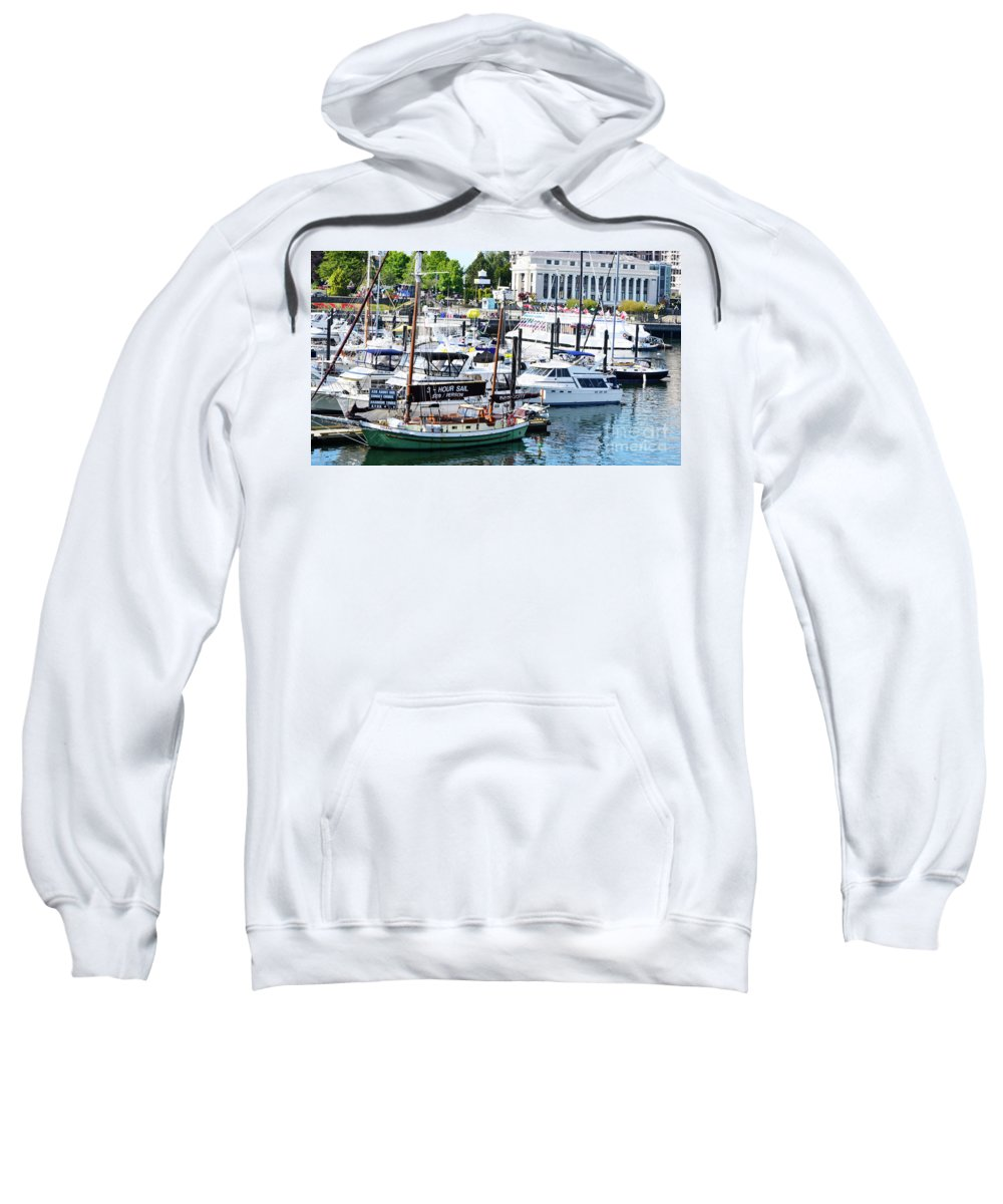 British Columbia Sweatshirt featuring the photograph Inner Harbour by Traci Cottingham