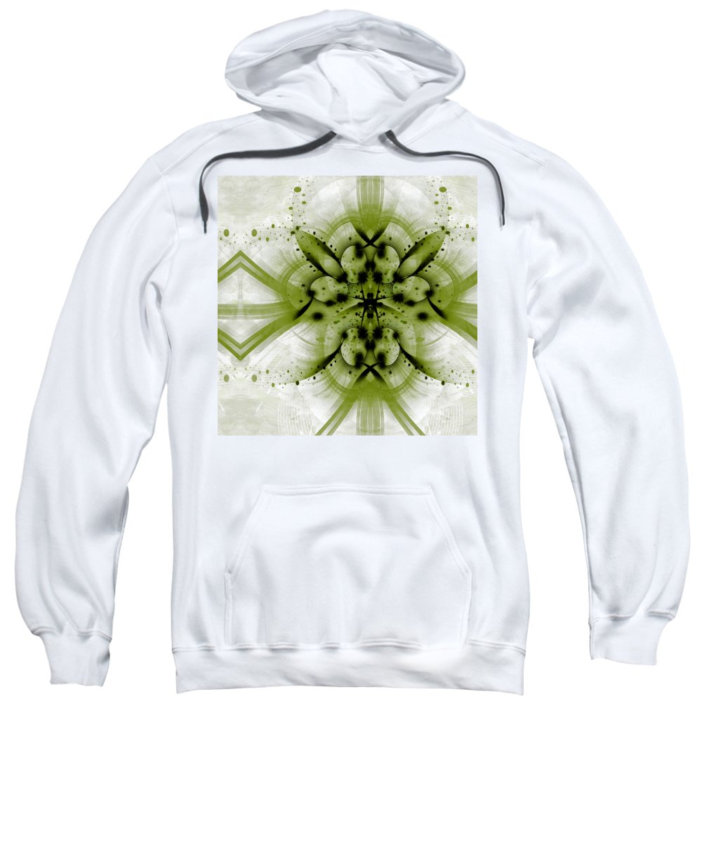 Id Sweatshirt featuring the mixed media Intelligent Design 3 by Angelina Vick