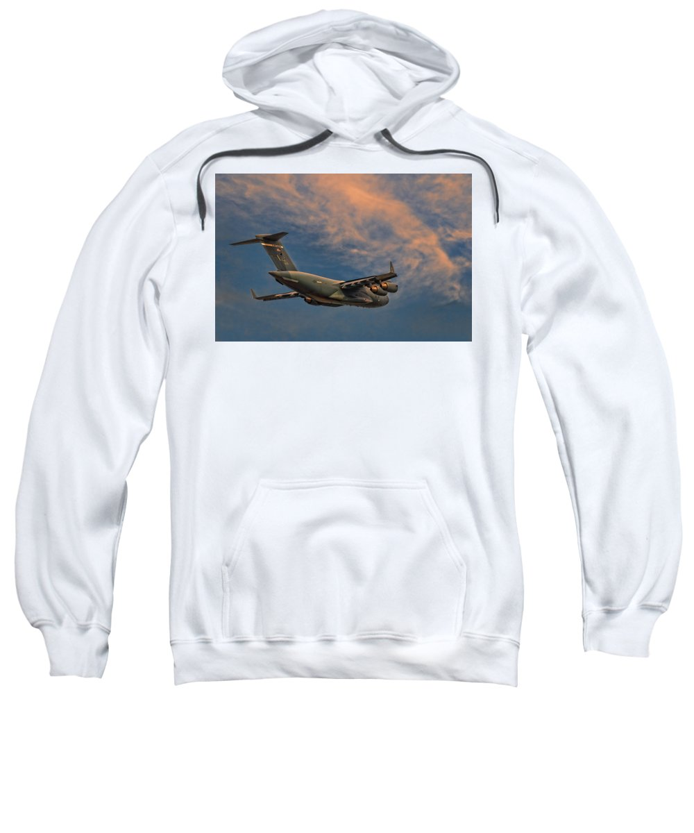 Elmendorf Sweatshirt featuring the photograph Into The Sunset by Steven Richardson