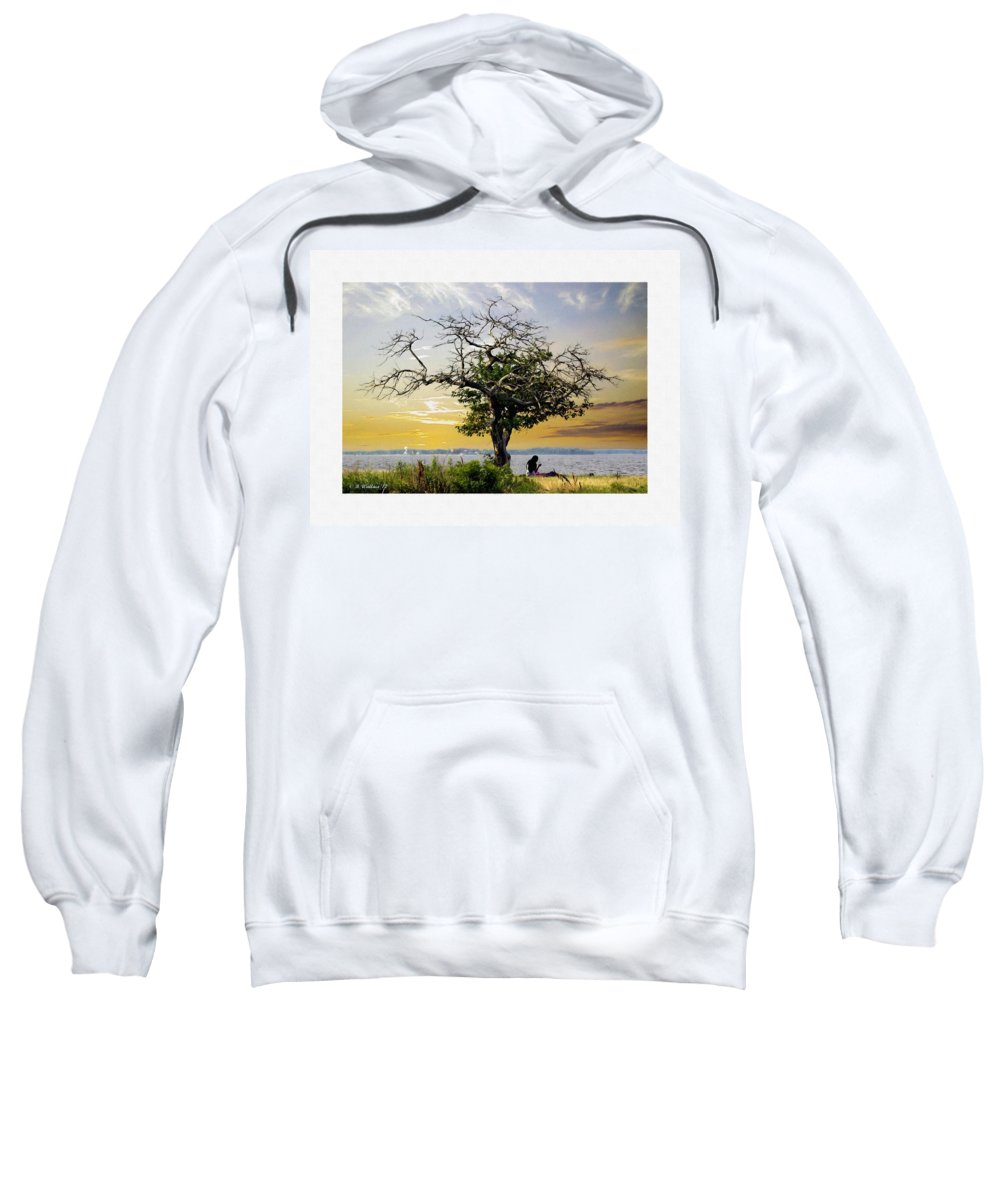2d Sweatshirt featuring the photograph Introspective Oil Effect by Brian Wallace