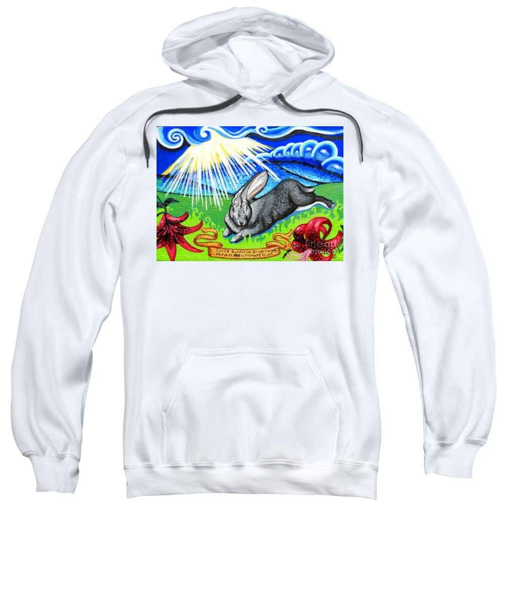 Pets Sweatshirt featuring the painting Iorek Byrnison Silvertongue by Genevieve Esson