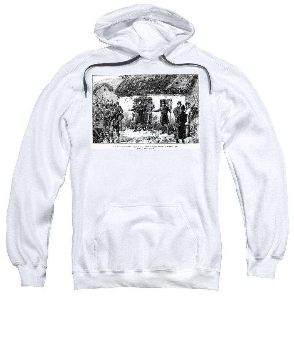 1887 Sweatshirt featuring the photograph Irish Land League, 1887 by Granger