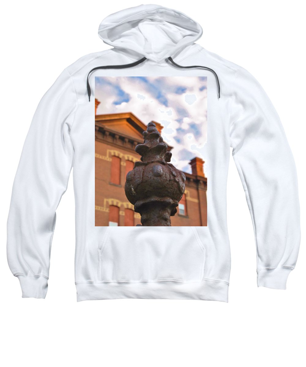 Old School House Sweatshirt featuring the photograph Iron No More by Michele Nelson