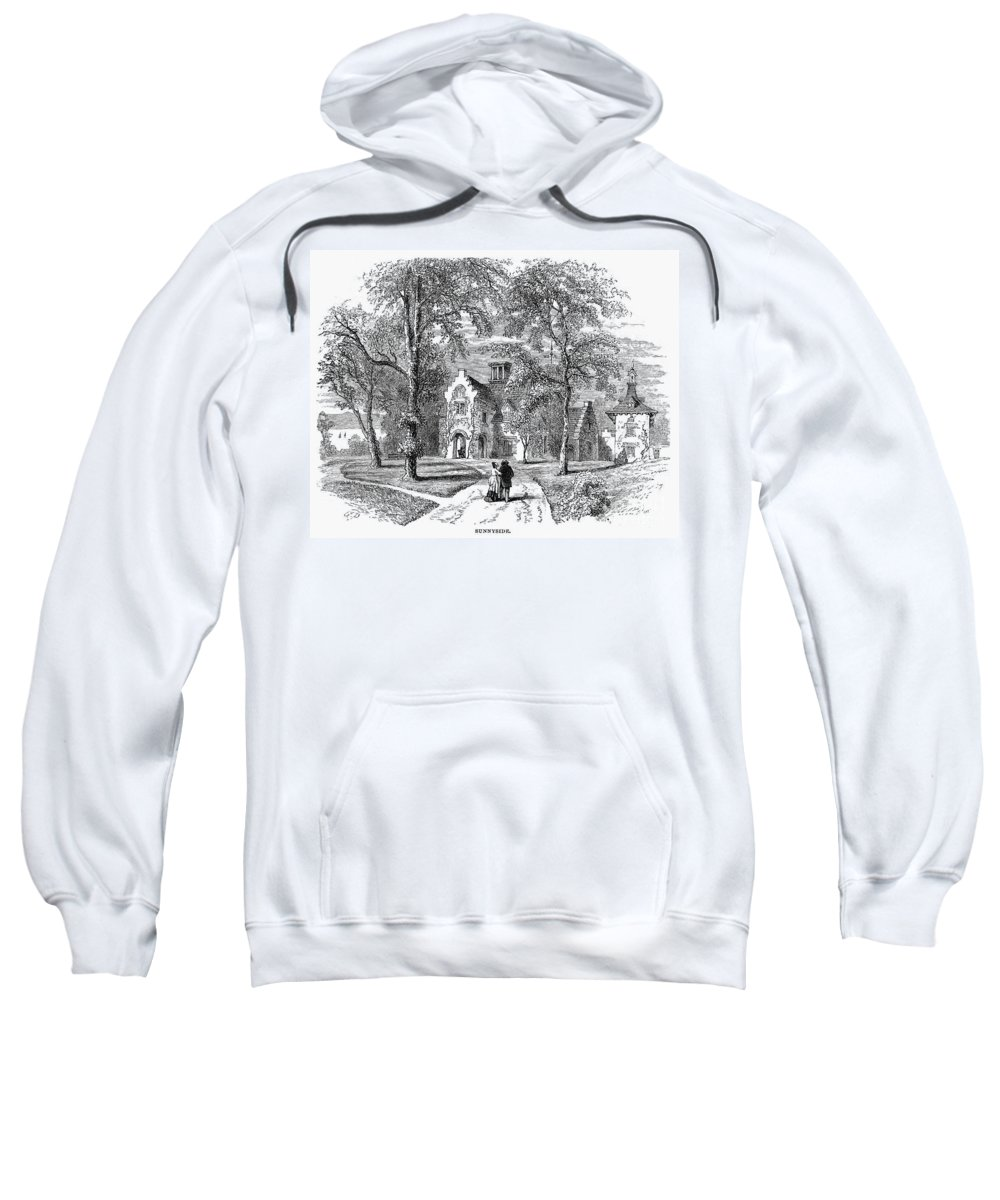 1876 Sweatshirt featuring the photograph Irving: Sunnyside by Granger