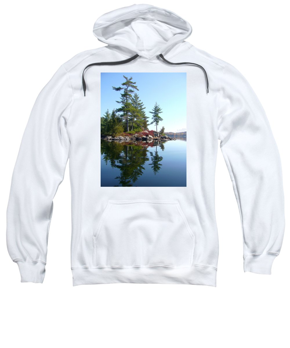 Lake Sweatshirt featuring the photograph Isle - Natural Reflection by Shirley Radebach