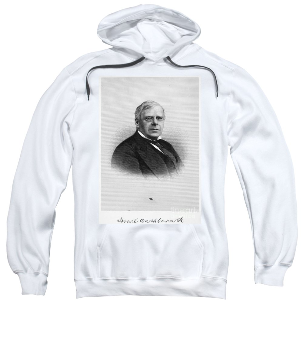 1885 Sweatshirt featuring the photograph Israel Wasburn (1813-1883) by Granger
