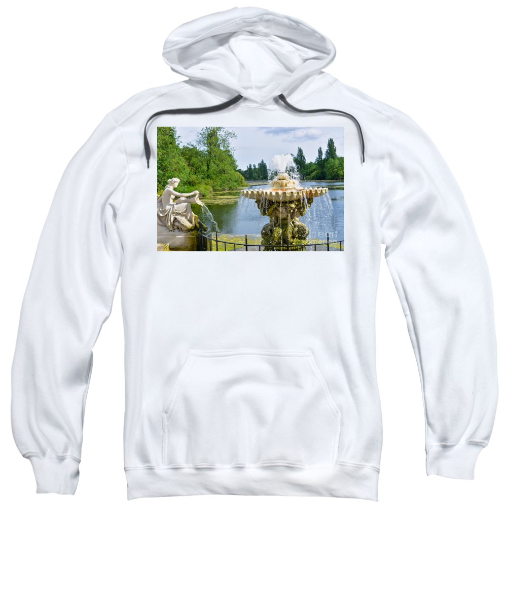 London Sweatshirt featuring the photograph Italian Fountain London by Andrew Michael