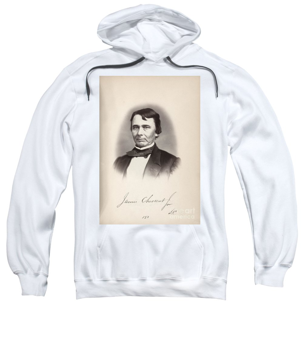 1859 Sweatshirt featuring the photograph James Chesnut (1815-1885) by Granger