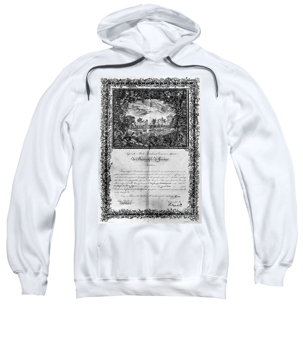 1820 Sweatshirt featuring the photograph Jefferson: Degree, 1820 by Granger