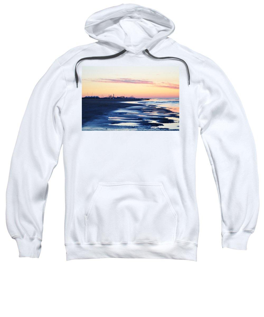 Jersey Shore Sunrise Sweatshirt featuring the photograph Jersey Shore Sunrise by Bill Cannon