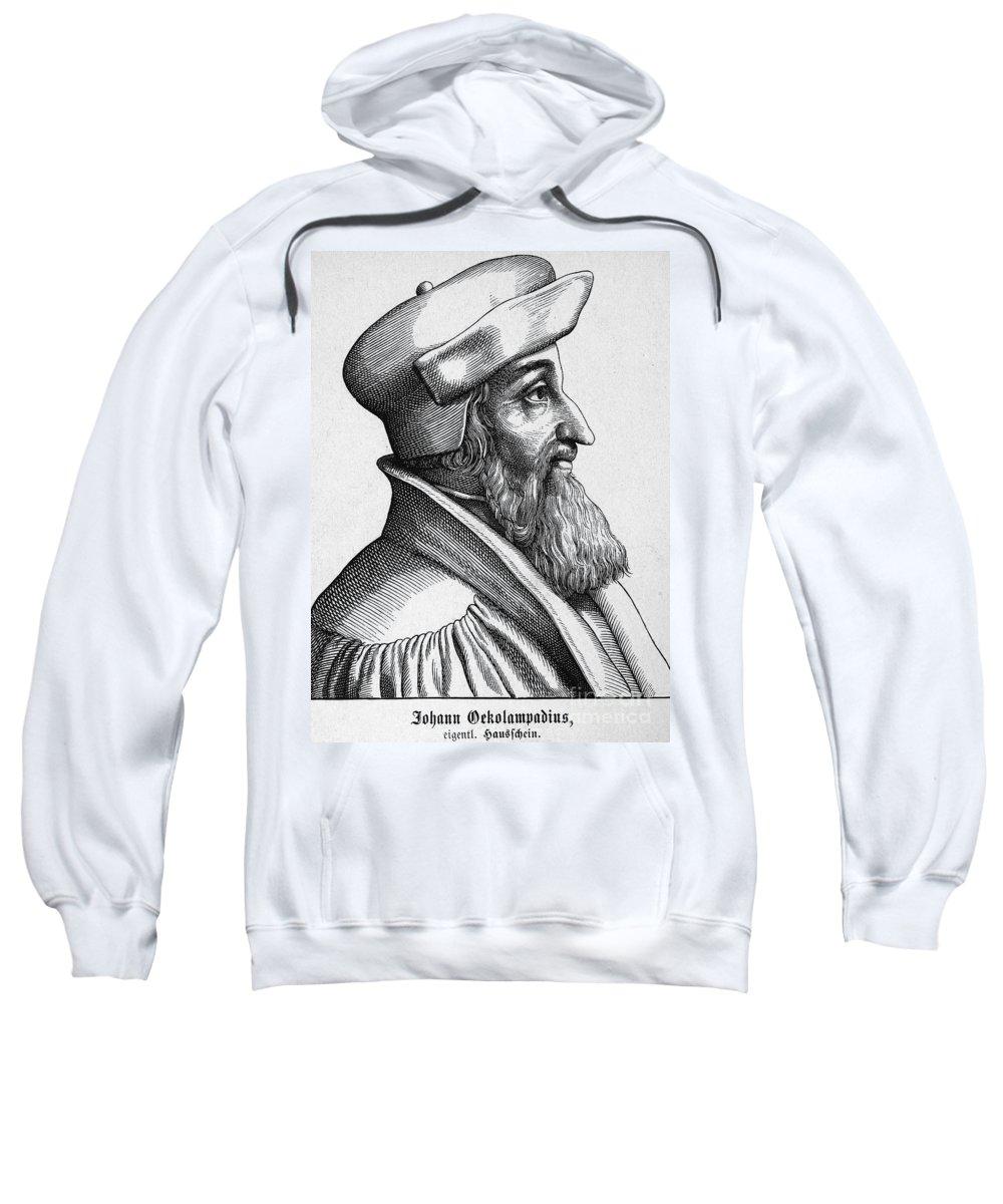 16th Century Sweatshirt featuring the photograph Johannes Oecolampadius by Granger