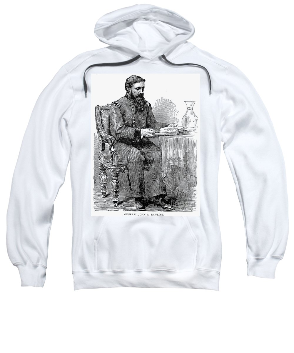 19th Century Sweatshirt featuring the photograph John A. Rawlins by Granger