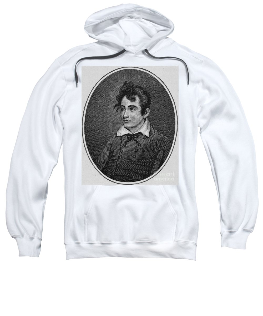 1809 Sweatshirt featuring the photograph John Howard Payne by Granger