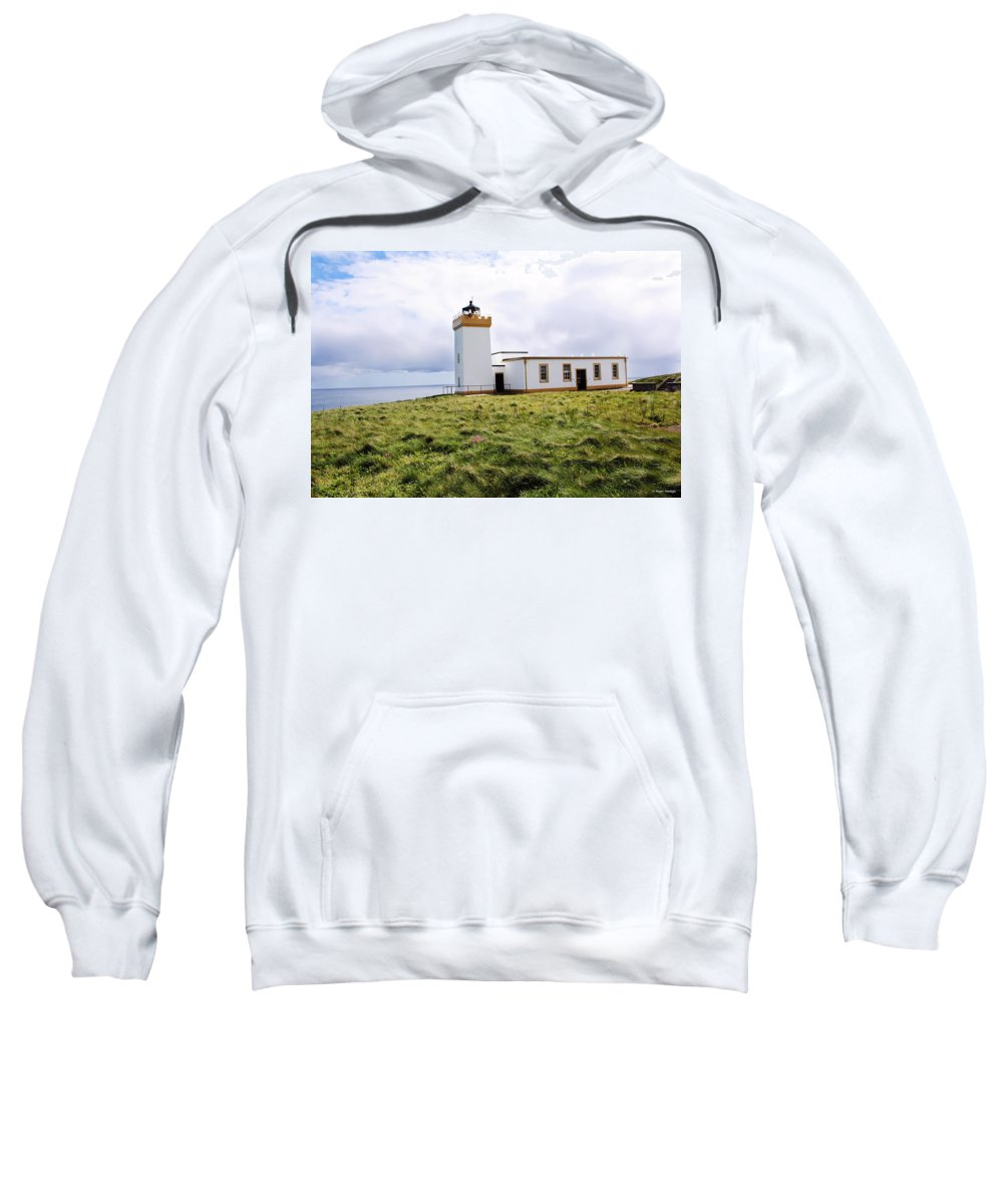 Landscape Sweatshirt featuring the photograph John O Groats Lighthouse by Roger Wedegis