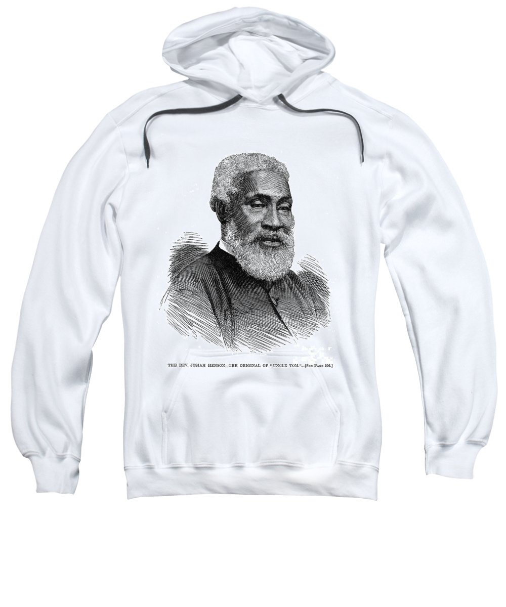 1877 Sweatshirt featuring the photograph Josiah Henson (1789-1883) by Granger
