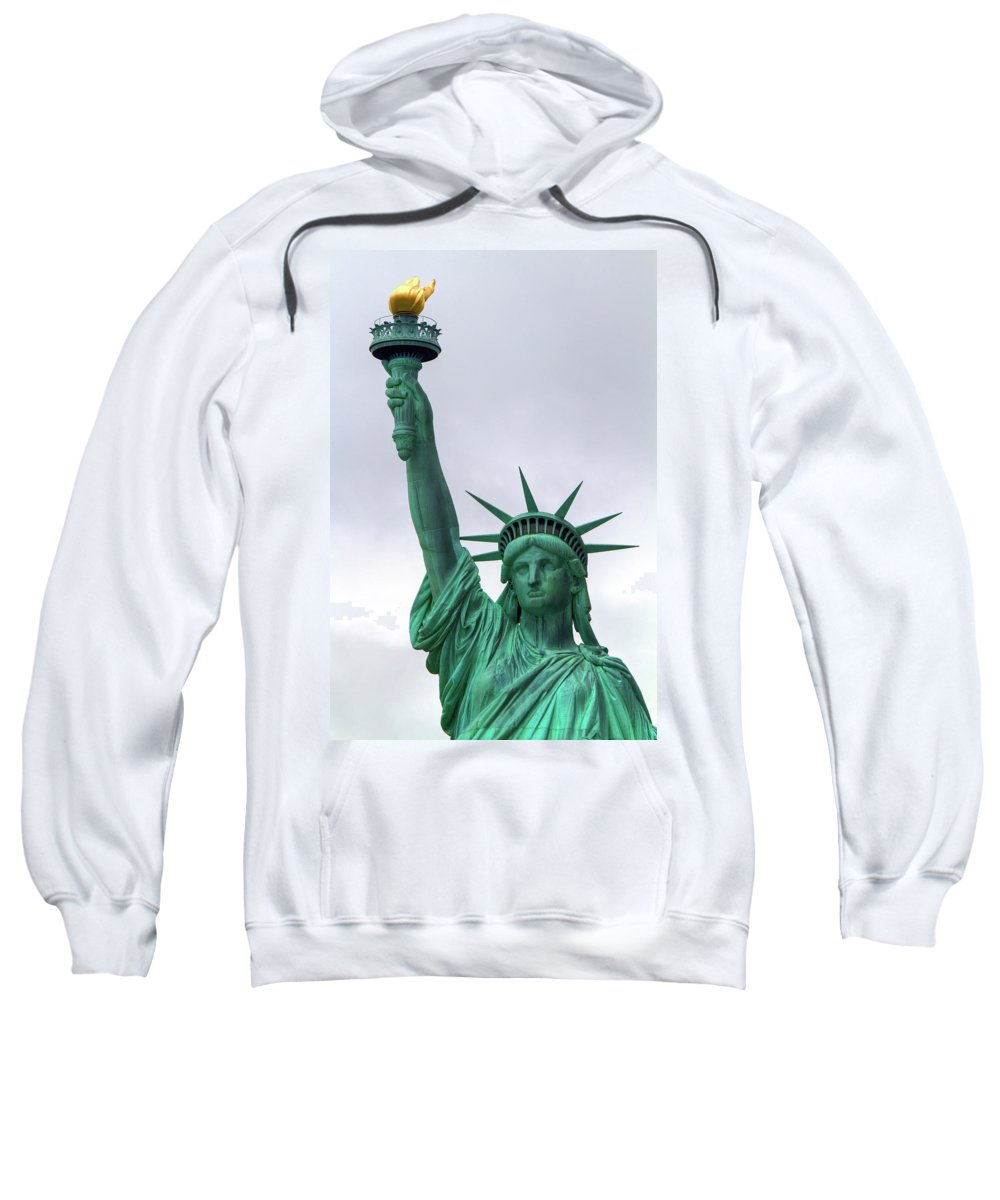 Statue Sweatshirt featuring the photograph Lady Liberty by Bill Lindsay