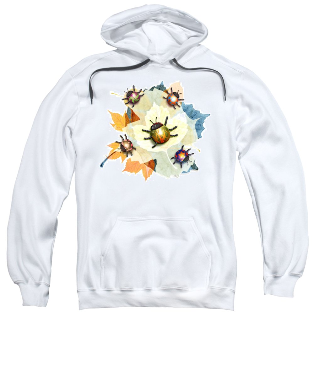 Animal Sweatshirt featuring the photograph Ladybug Illustration by Design Pics Eye Traveller