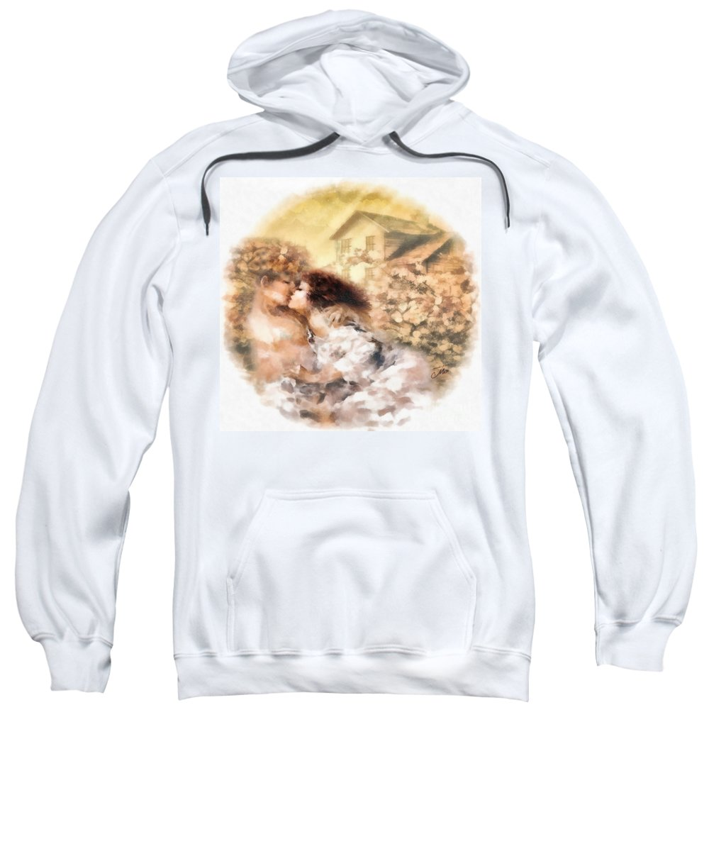 Last Day Of Summer Sweatshirt featuring the painting Last Day Of Summer by Mo T