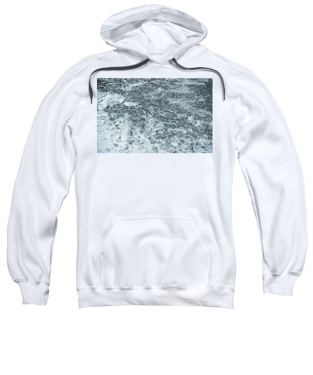 Lava Sweatshirt featuring the digital art Lava Abstract by David Pyatt