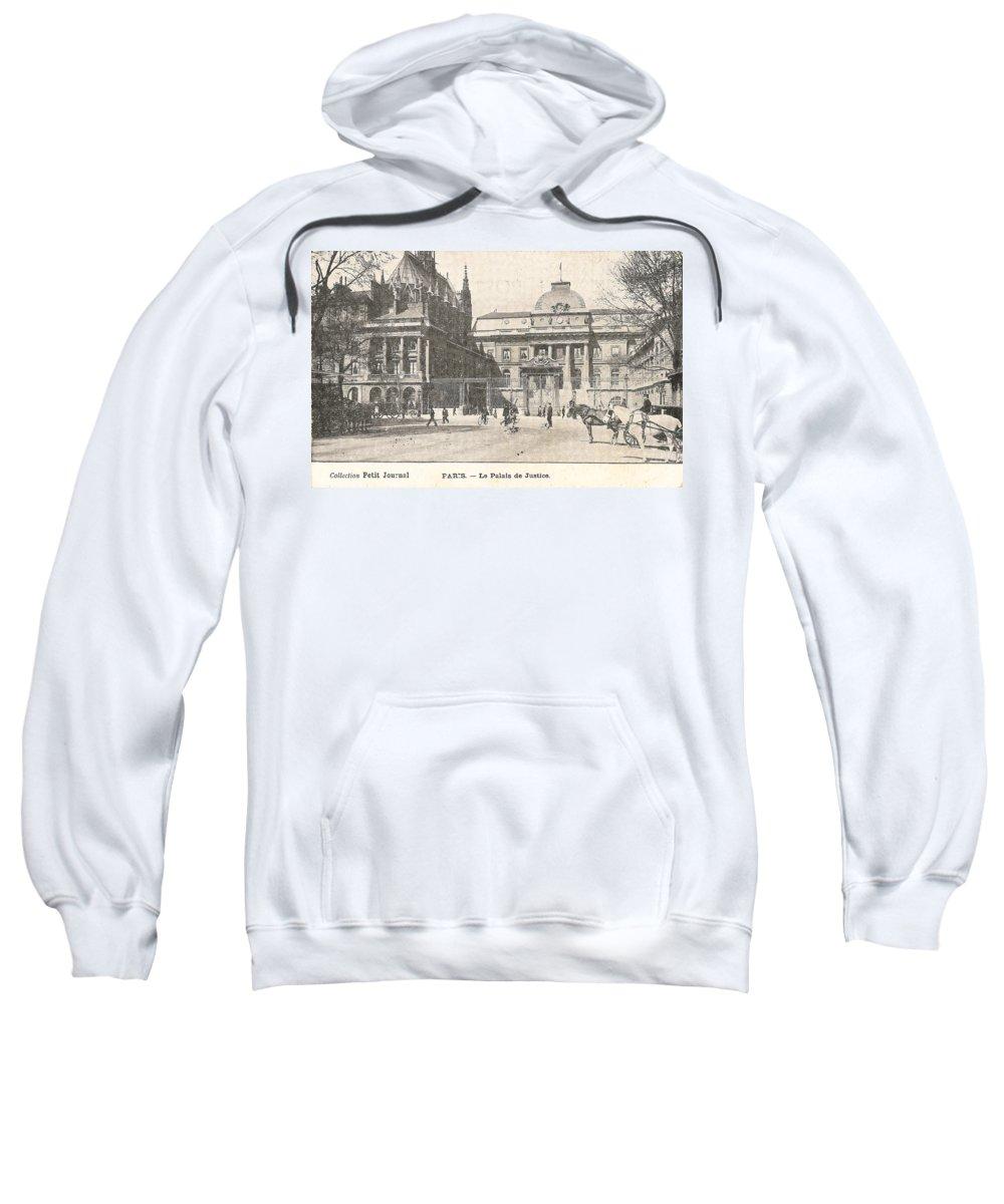 Paris Sweatshirt featuring the digital art Le Palais De Justice by Georgia Fowler
