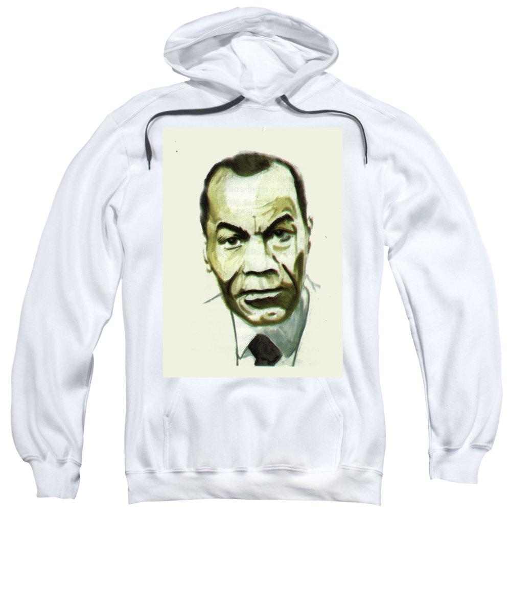 African Art Sweatshirt featuring the painting Leon Gontran Damas by Emmanuel Baliyanga