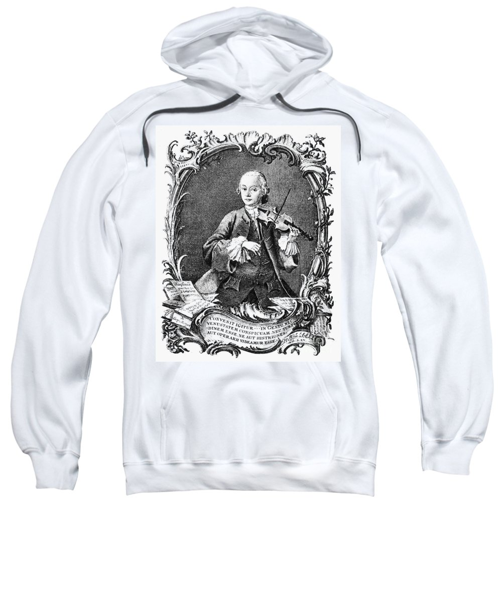1756 Sweatshirt featuring the photograph Leopold Mozart (1719-1787) by Granger