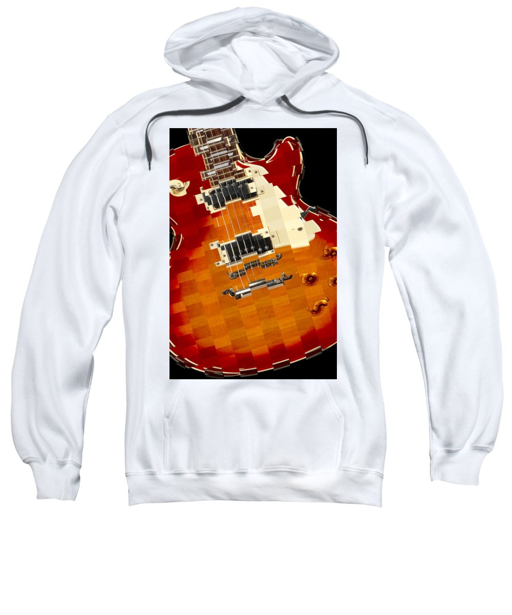 Classic Guitar Sweatshirt featuring the photograph Classic Guitar Abstract by Mike McGlothlen
