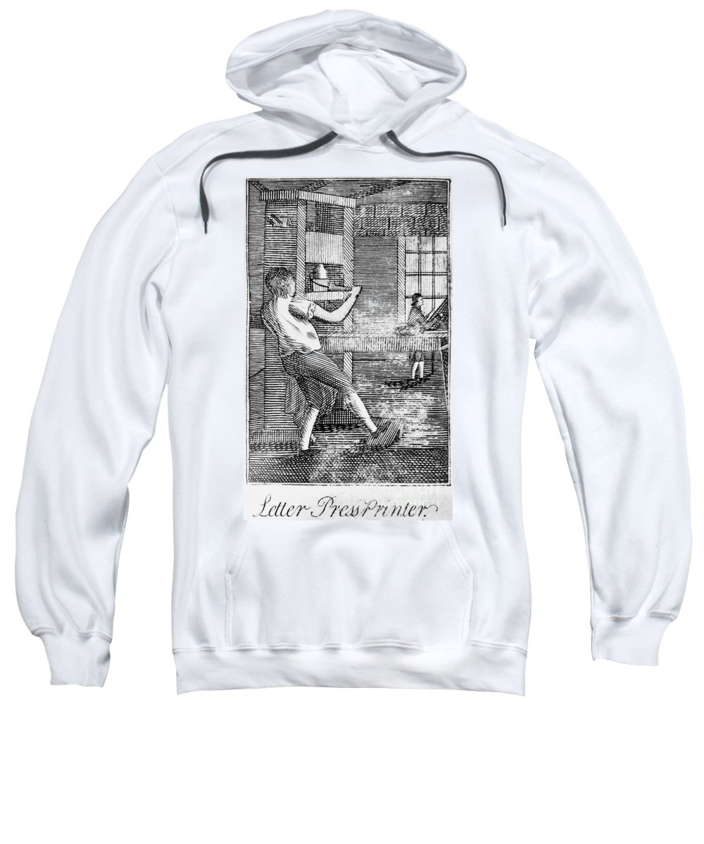 1807 Sweatshirt featuring the photograph Letter Press Printer, 1807 by Granger