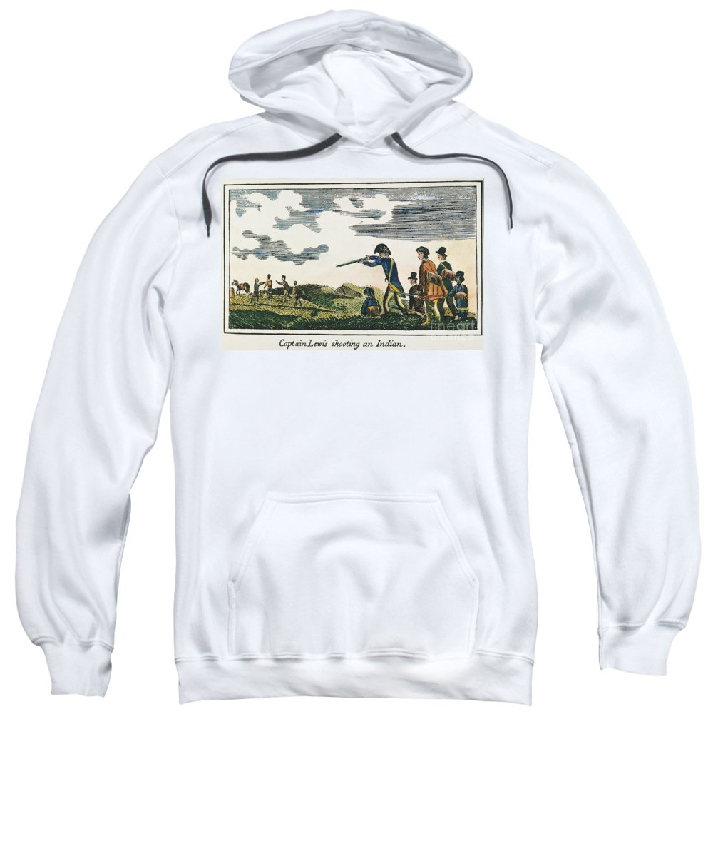 19th Century Sweatshirt featuring the photograph Lewis & Clark: Native American, 1811 by Granger