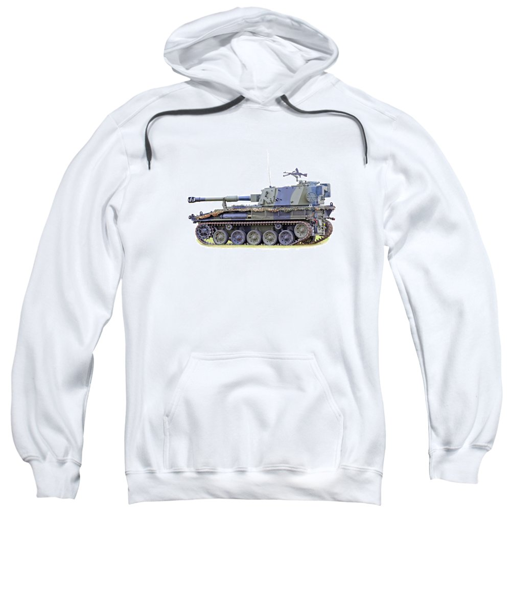 Action Sweatshirt featuring the photograph Light Weight Battle Tank by Paul Fell
