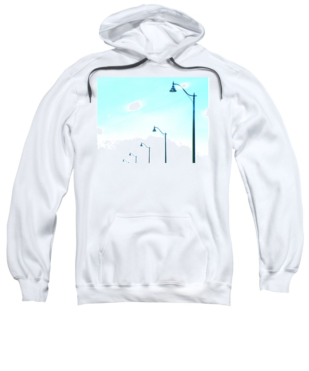 Abstract Sweatshirt featuring the photograph Lights by Lenore Senior