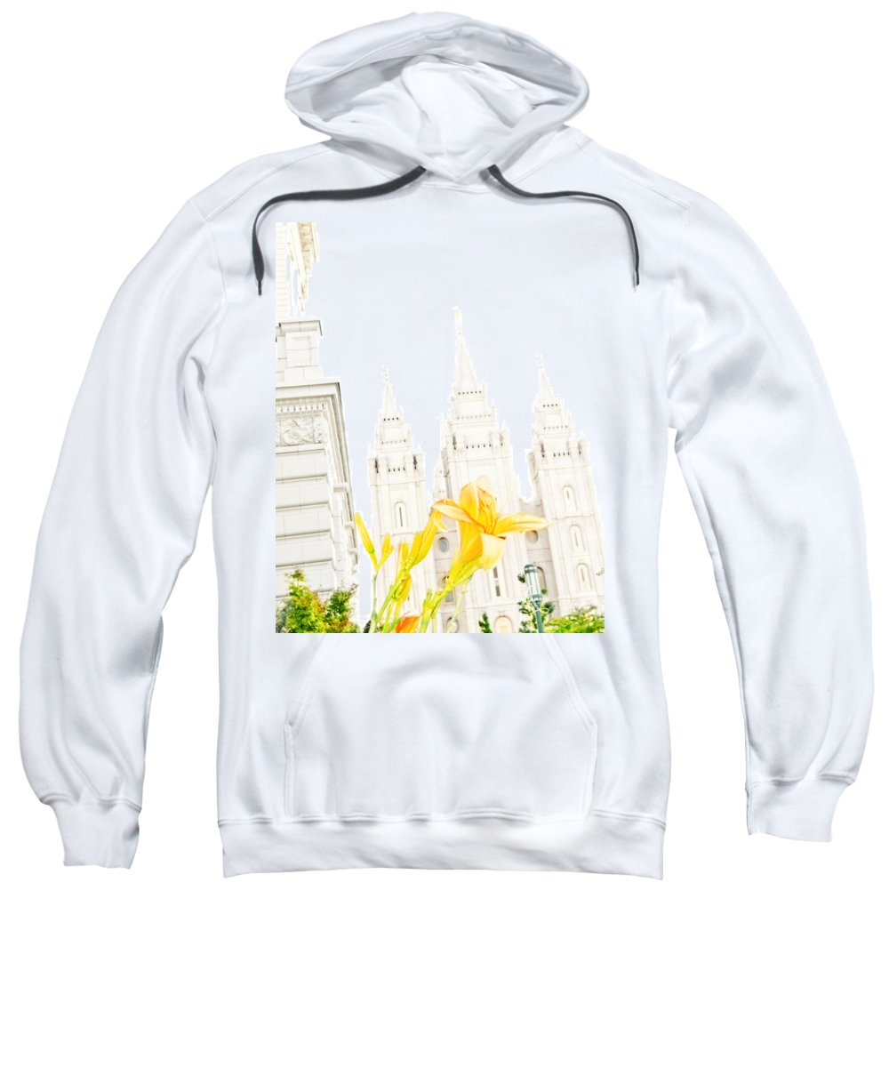 Temples Sweatshirt featuring the photograph Lily Temple Funky by La Rae Roberts