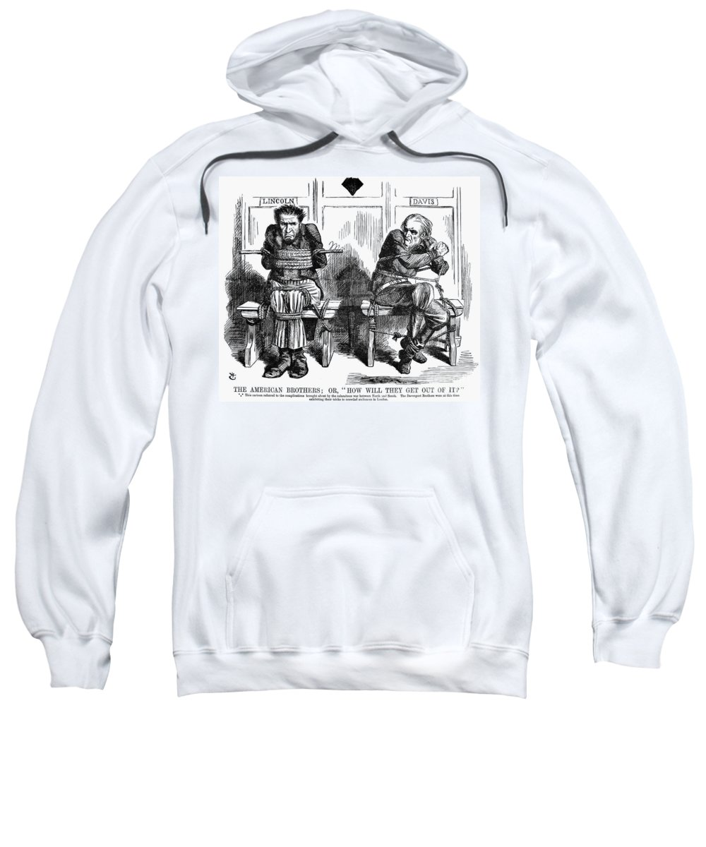 1864 Sweatshirt featuring the photograph Lincoln Cartoon, 1864 by Granger