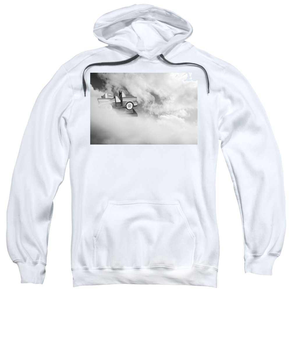 Fantasy Sweatshirt featuring the photograph Little Dreams Bw by Kathleen Grace