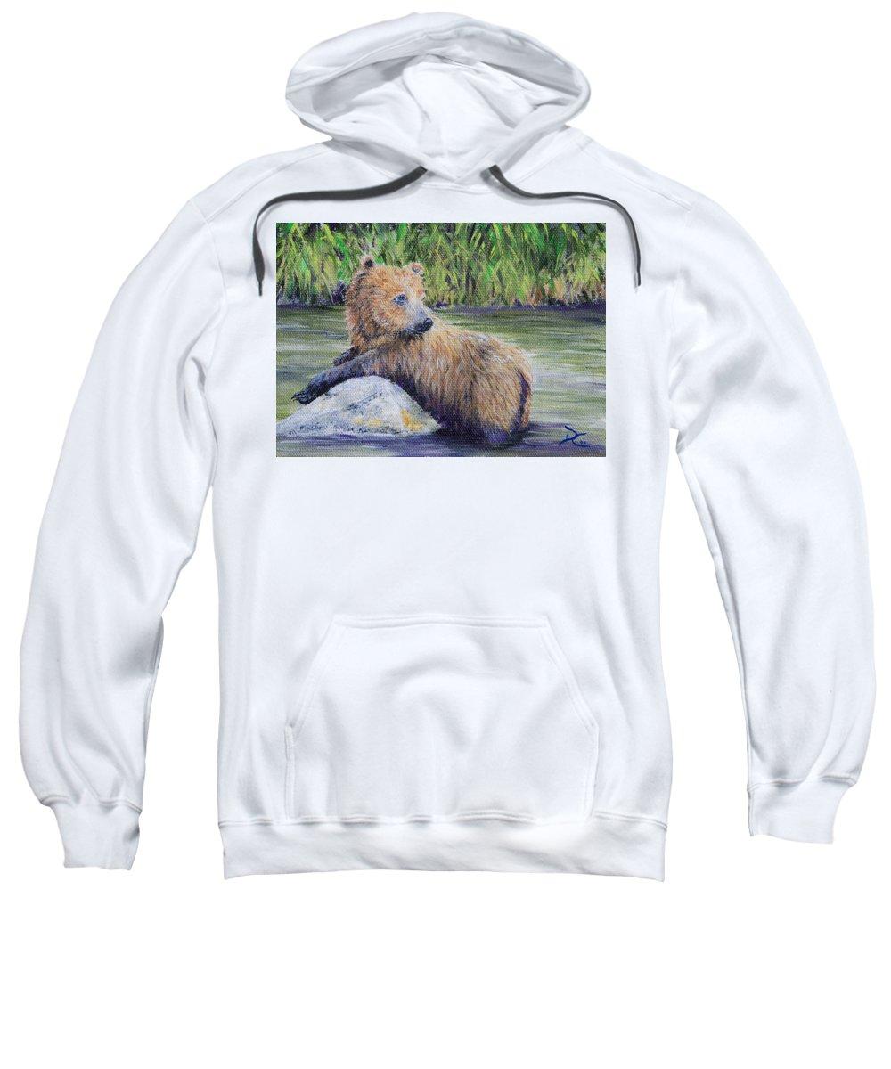 Bear Sweatshirt featuring the Little Toklat Study by Dee Carpenter