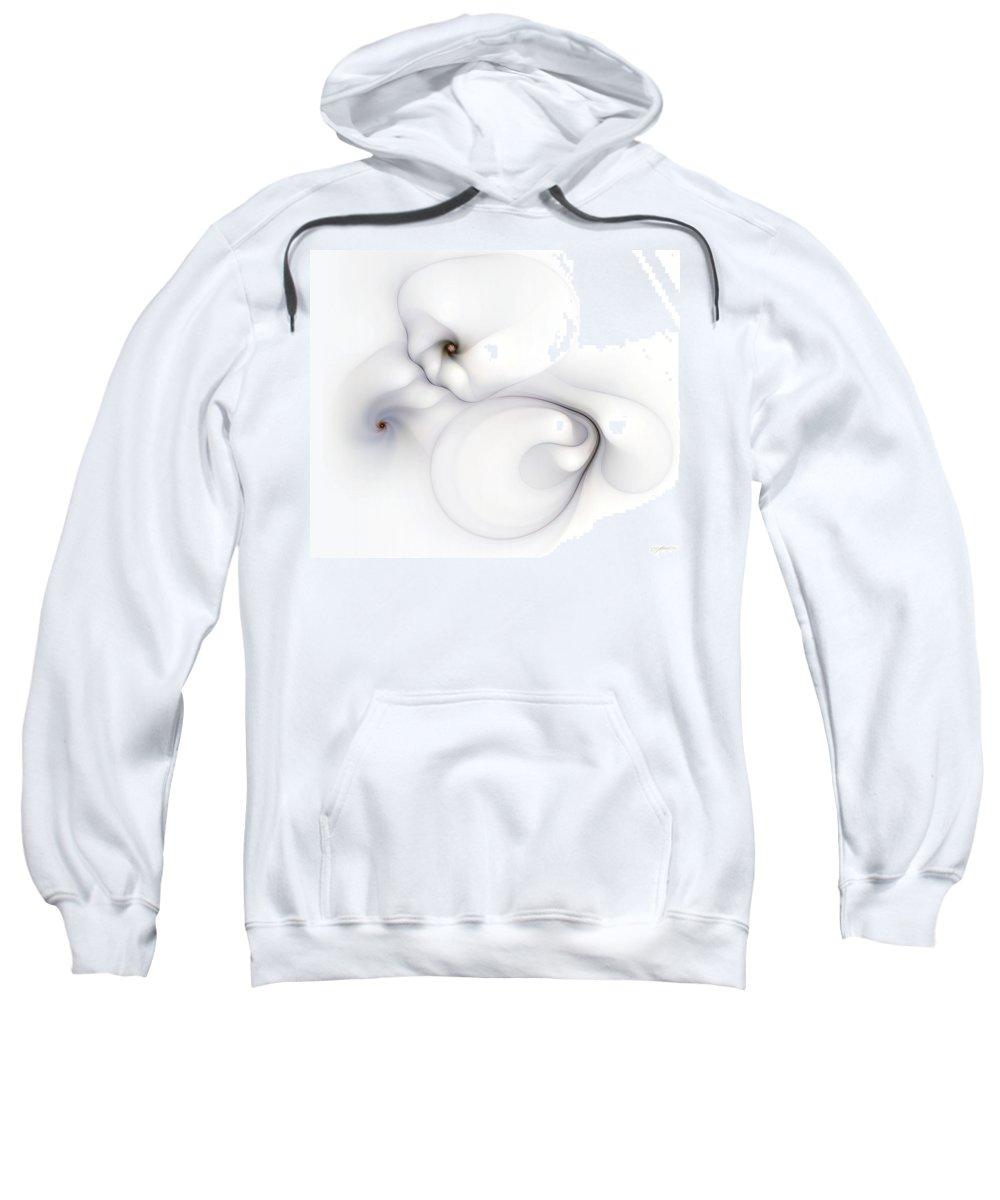 Abstract Sweatshirt featuring the digital art Livid Manifestations by Casey Kotas