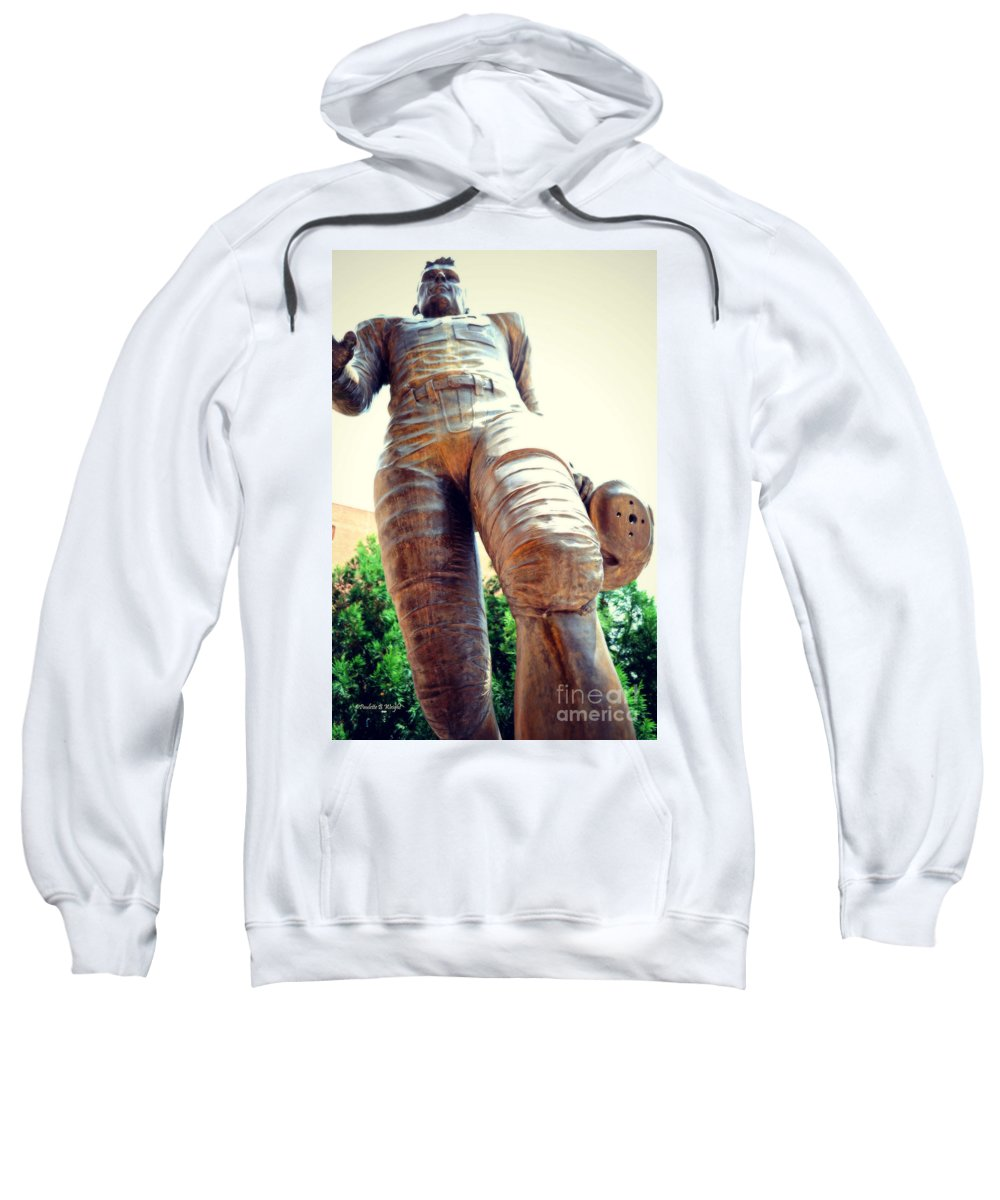 Charlie Sweatshirt featuring the photograph Looking Up To Choo Choo by Paulette B Wright