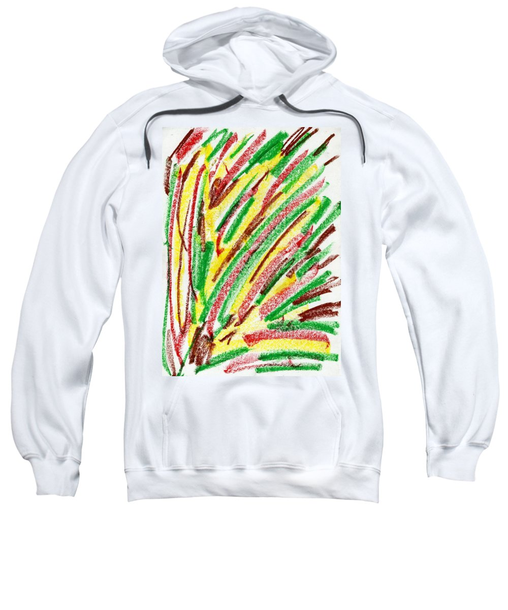 Lost Emotion Sweatshirt featuring the painting Lost Emotion by Taylor Webb
