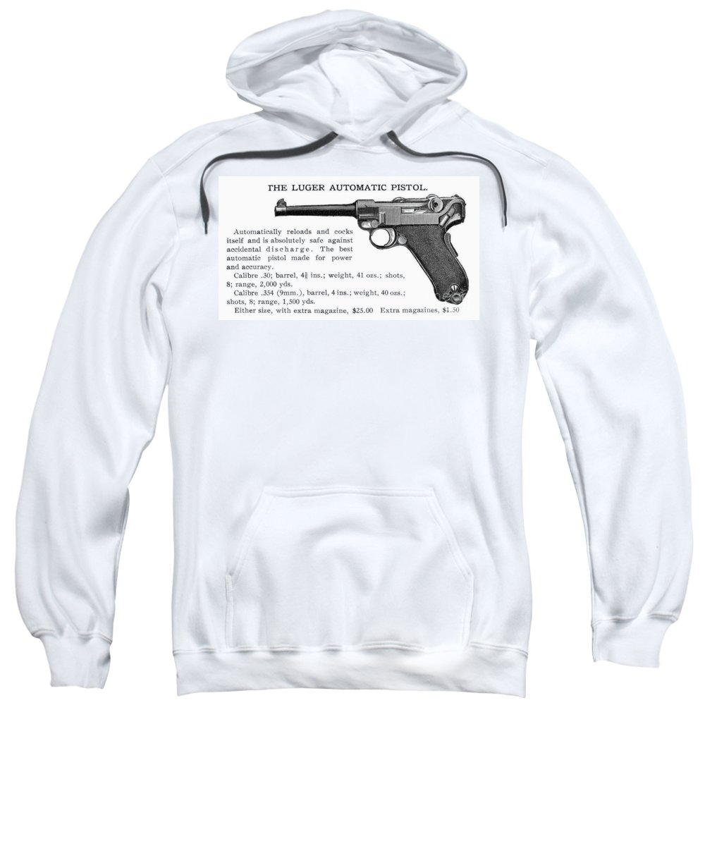 20th Century Sweatshirt featuring the photograph Luger Automatic Pistol by Granger